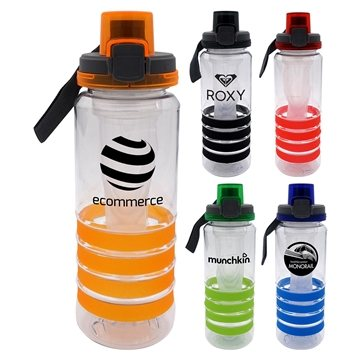 Locking Lid 28 oz Sporty Ring Bottle with Chiller