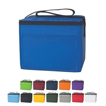 100 Polyester Custom Budget Cooler Bags - 6 Cans