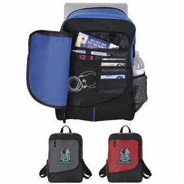 Poly Zip Side Backpack