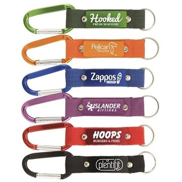 200 Strap Happy Carabiners with Metal Plate